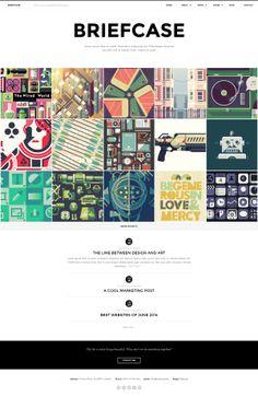 Briefcase - Bold & Minimal Portfolio 4 Designers by Zizaza - design ocean , via Behance