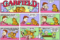 Read today's Garfield comic strip, or search for your favorite! Garfield Cartoon, Garfield And Odie, Garfield Comics, Cartoon Jokes, Cartoons, Dog Cat, Hagar The Horrible, Dog Comics, Caricatures