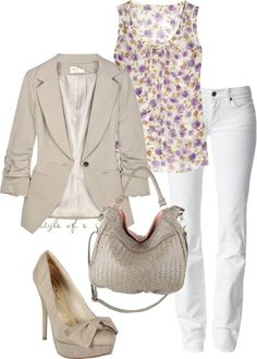 """""""Flowered Top"""" by styleofe on Polyvore"""