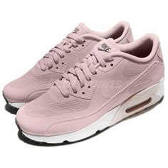 competitive price a5f13 389e0 eBay  Sponsored Nike Air Max 90 Ultra 2.0 GS Barely Rose Pink Women Kid  Running Shoes 869951-602