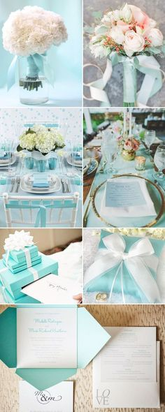 Tiffany-inspired Wedding Designs - Decor #Wedding #Party #Tiffany