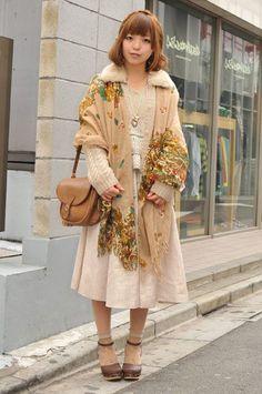 Winter mori girl fashion