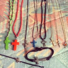 • I feel I like cross jewellery • #crosses #necklaces #bracelets #obsession #toomany #myl #school #silver #gold #colours / http://www.contactchristians.com/?p=8310