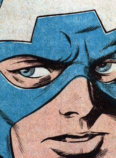 "Pencils by Gene Colan. Inks by Bill Everett. ""Captain America"" #137, 1971."
