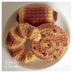 Mmmm... Des viennoiseries! Modèle pain au chocolat gratuit!