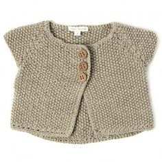 Seed stitch cardi - idea only Baby Knitting Patterns, Knitting For Kids, Only Cardigan, Cardigan Bebe, Pull Bebe, Seed Stitch, Baby Vest, Baby Kind, Baby Sweaters