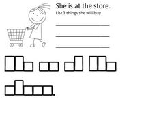 Students will read a sentence that uses targeted kindergarten-first grade sight words.  Then the students will rewrite the sentence in the boxes provided to work on handwriting skills.  Students are also asked a question that will have them listing their ideas.