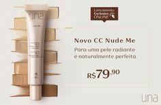 Novo CC Nude Me: exclusiva tecnologia detox, que fornece mais oxigênio e nutrientes para a pele, contribui para a prevenção do envelhecimento e do surgimento de áreas escuras. Conheça todos os benefícios e aproveite para comprar na Rede Natura com preço especial. Por apenas R$ 79,90 ou 2x de R$ 39,95. CC Nude Me Lançamento exclusivo online. Rede.natura.net/espaco/kellysantos