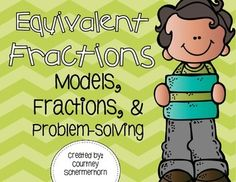 {NEW PRODUCT - FREE FOR A LIMITED TIME} This set of mini-lessons is a perfect addition to your fractions unit!  It scaffolds students through equivalent fractions, starting with models, then progressing to creating equivalent fractions with numbers, and finally, applying equivalent fractions to problem-solving situations.
