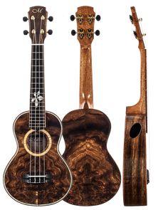 Maestro Monkeypod Concert #LardysUkuleleOfTheDay ~ https://www.pinterest.com/lardyfatboy/lardys-ukulele-of-the-day/ ~ A lovely piece of wood from Amati's fine instruments