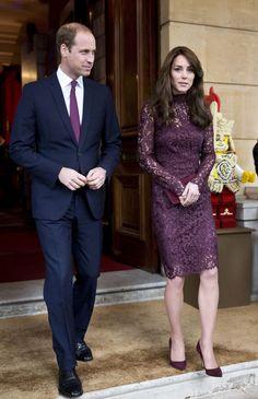 Los duques de Cambridge apuestan por el marsala, el color de moda de este año