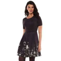 Elie Tahari for DesigNation NYC Skyline Fit & Flare Dress - Women's