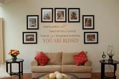 11 DIY Wall Quote Accent Inspirations That Will Beautify Your Home - You Are Blessed