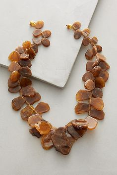 Agate Cluster Necklace - anthropologie.com