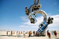 One of the largest art instillations in the world, The Big Rig Jig is a popular attraction at the yearly Burning Man Festival in Black Rock, Nevada.