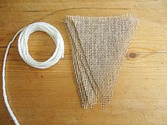 DIY Make It Yourself Blank Mini Triangle Burlap Banner Bunting by SweetThymes, $7.99