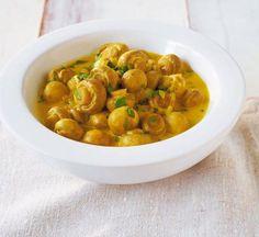Curry-Rahm-Champignons - [ESSEN UND TRINKEN]
