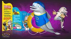 Acuática delfines   Objetivo: Presencia y proyección de la marca en Internet / Diseño Editorial.