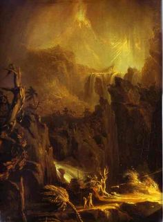 expulsion from the garden of eden | Thomas Cole. Expulsion from the Garden of Eden (detail). c.1827-1828 ...