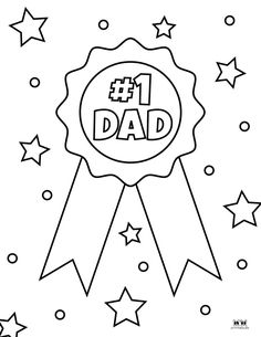 Colouring Pics, Coloring Pages, Fathers Day Coloring Page, Father's Day Printable, Dad Rocks, Coat Of Many Colors, Page Protectors, Worlds Best Dad, Multiplication For Kids