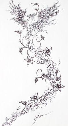 Firebird- Tattoo request from a friend by OpheliaArts.deviantart.com on @DeviantArt