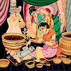 Tailam and angraga lepan. Krishna Leela, Bal Krishna, Krishna Statue, Krishna Love, Krishna Art, Krishna Images, Lord Krishna, Yashoda Krishna, Shree Krishna