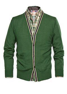 Green Wool Cardigan/H.E. by Mango