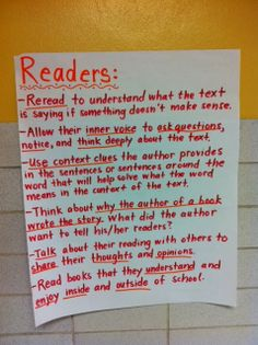 """What readers do.  Not """"good"""" readers, just simply readers.... :)"""