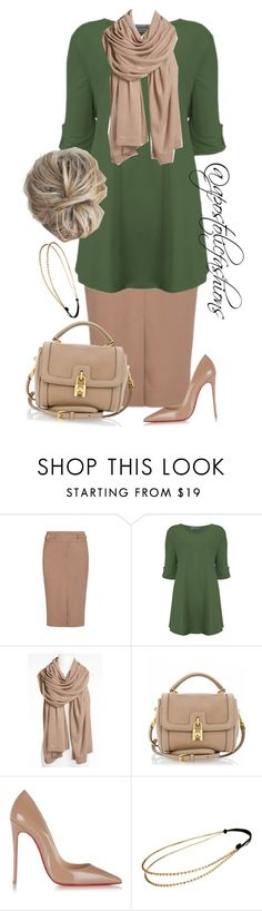 """Apostolic Fashions #972"" by apostolicfashions on Polyvore featuring Jason Wu, CO, Nordstrom, Dolce&Gabbana, Christian Louboutin and Chicnova Fashion"