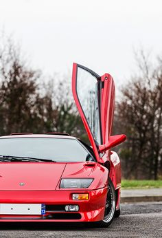 Lamborghini Diablo SV Red Lamborghini, Lamborghini Diablo, Ferrari, Automotive Manufacturers, Eroge, Love Car, Retro Cars, Amazing Cars, Sport Cars