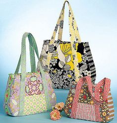 Tote Bag Pattern Mccall S 5822 Handbag Purse By Baublesandkitsch 5 00 Patchwork Bags Quilted