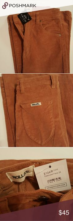 NWT Rolla's East Coast Flare Cords This is a pair of Rolla's East Coast Flare Hi Rise Cords  Size 28 regular 10 Regular. NWT Rolla's  Pants Boot Cut & Flare