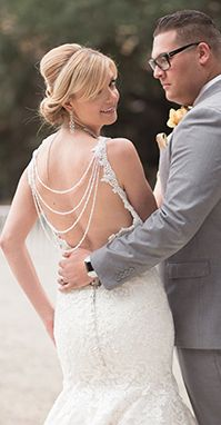 Rustic Temecula wedding at whispering oaks terrace, barn wedding, grey wedding suit for rustic wedding, lace bridal gown