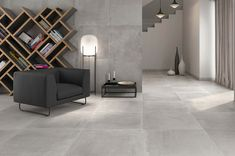 Large Format Tile, Modern Architecture, Home Projects, Tiles, New Homes, Minimalist, Flooring, Living Room, Grand Format