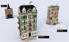 edited to put all final images in the first post...    	After seeing the LEGO movie, I wanted to re-create buildings from Emmet's neighborhood. While rese...