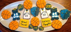 Grizz Grizzlies Basketball Believe Memphis Grown Towel - Decorated Sugar Cookies by I Am The Cookie Lady