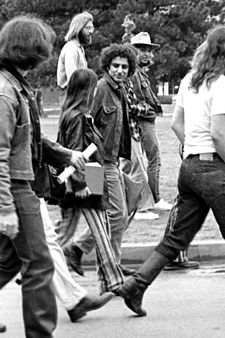 """Abbot Howard """"Abbie""""-political& social activist, co-founded the Youth International Party (""""Yippies"""").He was arrested & tried for conspiracy & inciting to riot due to his role in protests that led to violent confrontations with police during the 1968 Democratic National Convention. verdicts were overturned on appeal.He continued activism in 1970s& is a symbol of youth rebellion of counterculture era."""