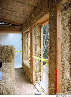 The 2-foot thick walls of the Roble Road house soak up sunlight during the day and radiate heat at night. They provide at least 3 times the insulation value of a typical Bay Area home.