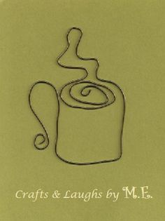 coffee cup wire bookmark by CraftsLaughsbyME on Etsy, $4.00