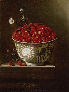 Adriaen Coorte, Strawberries in a Wan-Li Bowl, 1704