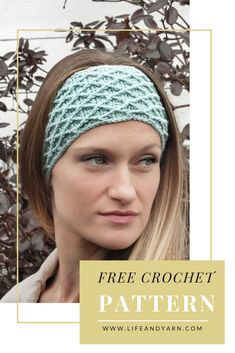 Hello Darling Headband Free Crochet Pattern – Life and Yarn Looking for an easy fun and free crochet pattern using the diamond stitch? Look no further because the Hello Darling Headband is here! Crochet Ear Warmer Pattern, Crochet Headband Pattern, Crochet Beanie, Crochet Hair, Crochet Clothes, Easy Crochet Headbands, Crochet Gifts, Diy Crochet, Crochet Ideas