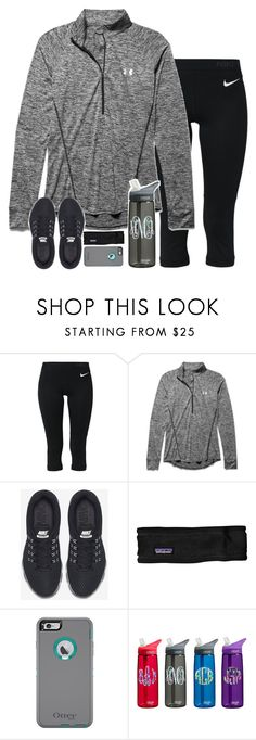 """if i was a runner"" by sarahc01 ❤ liked on Polyvore featuring NIKE, Under Armour and Patagonia"