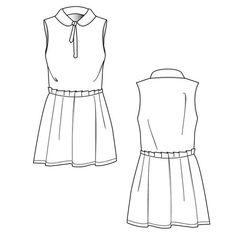 {Illustrator Stuff} Women's Dress Fashion Flat Template