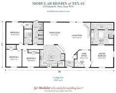 Floor Plans for modular ranch waterfront homes   One Story Modular Home Plans Including T-Ranch, H-Ranch, and
