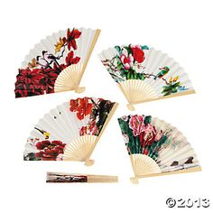 Oriental Fan Assortment- Might not match your theme, but pretty!