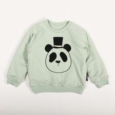 mini rodini PANDA REVERSIBLE SWEATSHIRT