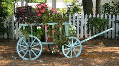 Flower cart at Roswell Arts Festival-Roswell, GA. Photo by Jan Seipel.