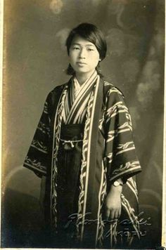 Vintage Japanese Photo Young Woman Kimono Obi Portrait Antique Japan Nippon Nihon Taisho Taishou Tokaido Softypapa