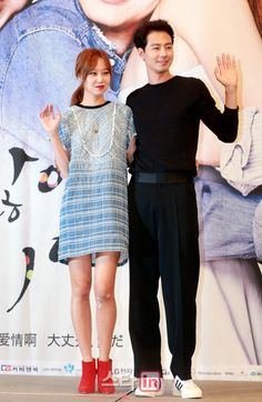 "[2014.07.15] Gong Hyo Jin and Jo In Sung at the ""It's Okay, That's Love"" press conference"