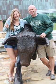 Uncle and niece at the best school ever! Go bulls